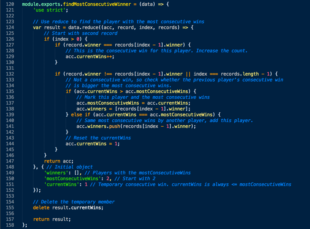 arrayjs_findMostConsecutiveWinner